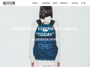 リュックサックブランド WILDERNESS EXPERIENCE ウィルダネスエクスペリエンスの公式ページ
